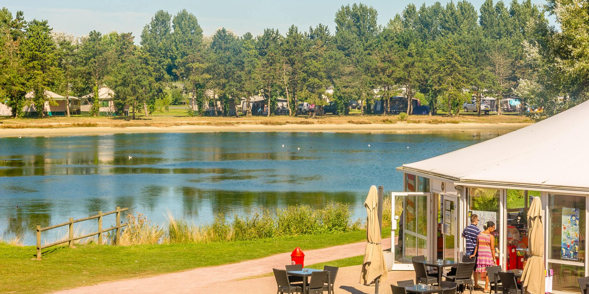 Camping Le Fanal : Terrasse Accueil