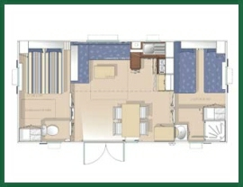 Camping Le Fanal : Plans Mobil Home 4 P