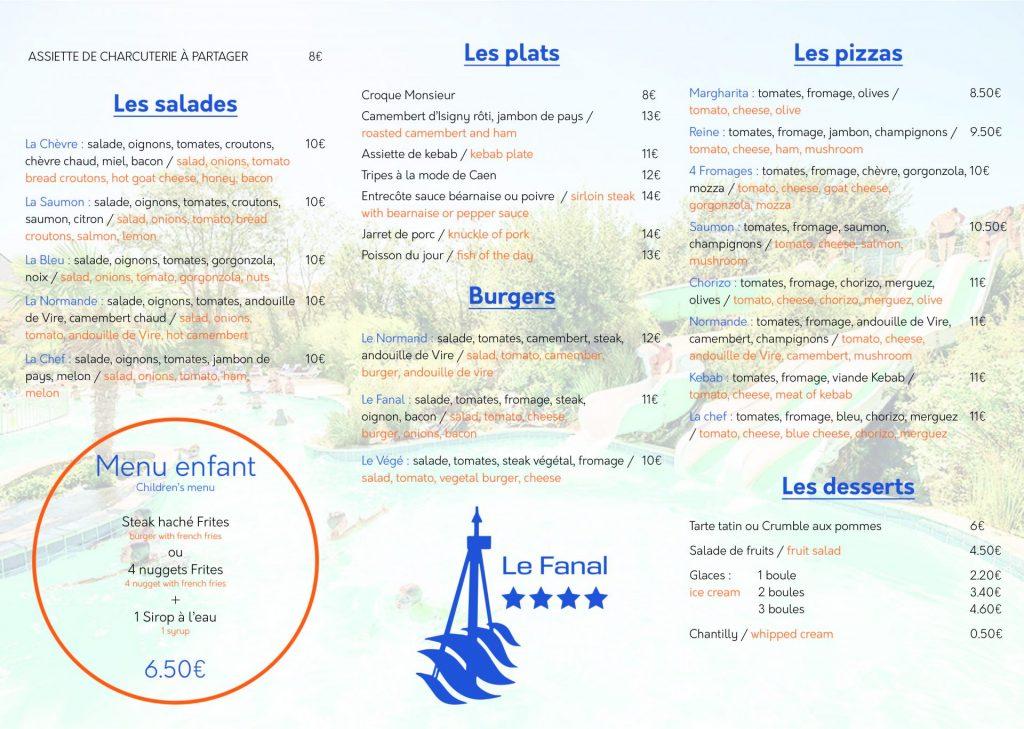 Camping Le Fanal : Carte Le Fanal 2021